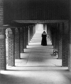 nun in cloister