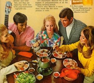 1970s fondue pot ad