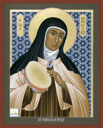 "Teresa of Ávila, Roman Catholic saint and mystic, wrote extensively on mystical union, once writing, ""If Christ Jesus dwells in a man as his friend and noble leader, that man can endure all things, for Christ helps and strengthens us and never abandons us. He is a true friend."""
